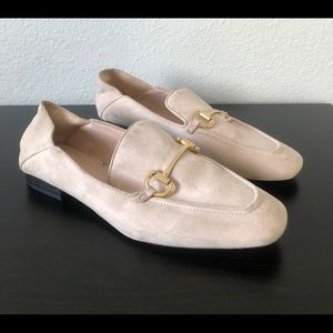 H&M Pink Suede Loafers Size 41